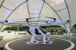 Modell des Volocopter 2X